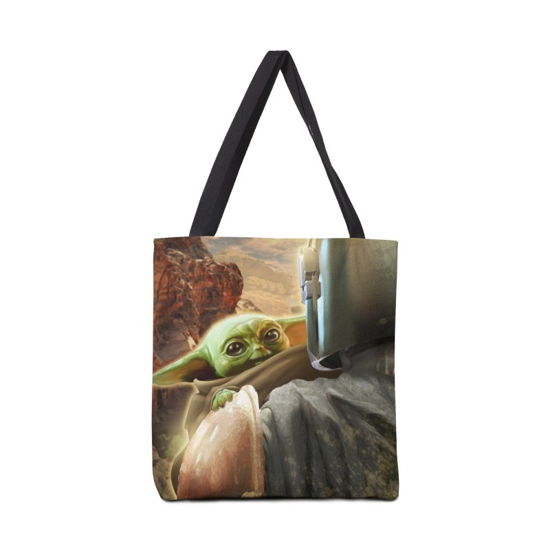 Mando, Hold My Baby Accessories Tote Bag Bag by Evolution Comics INC