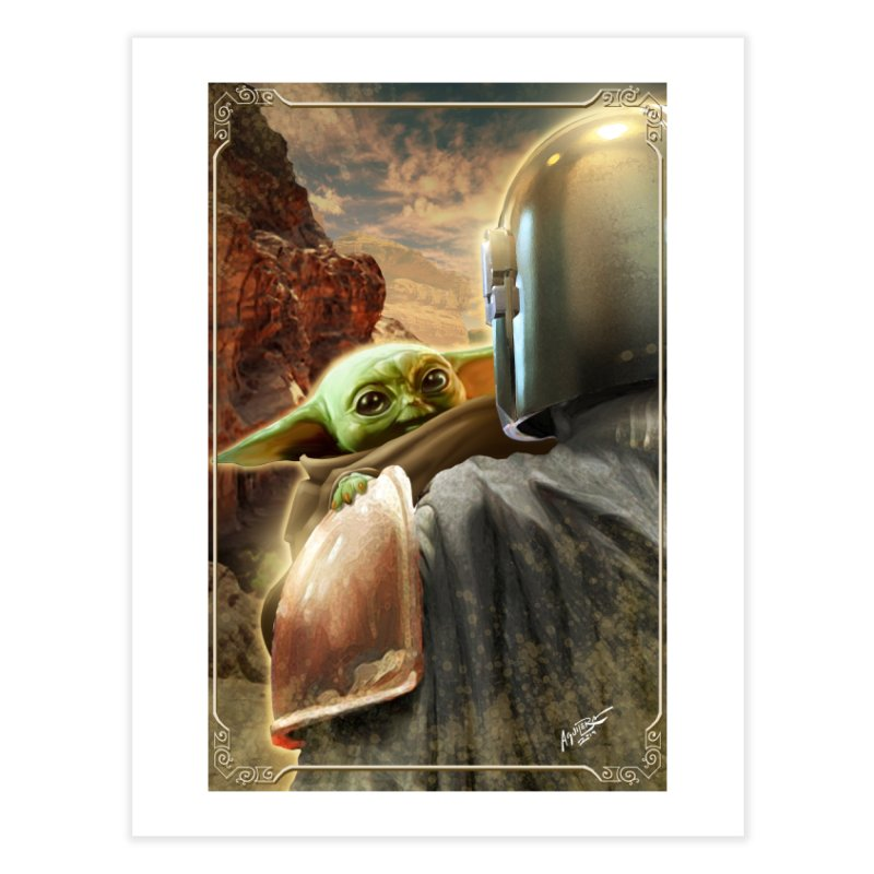 Mando, Hold My Baby Home Fine Art Print by Evolution Comics INC