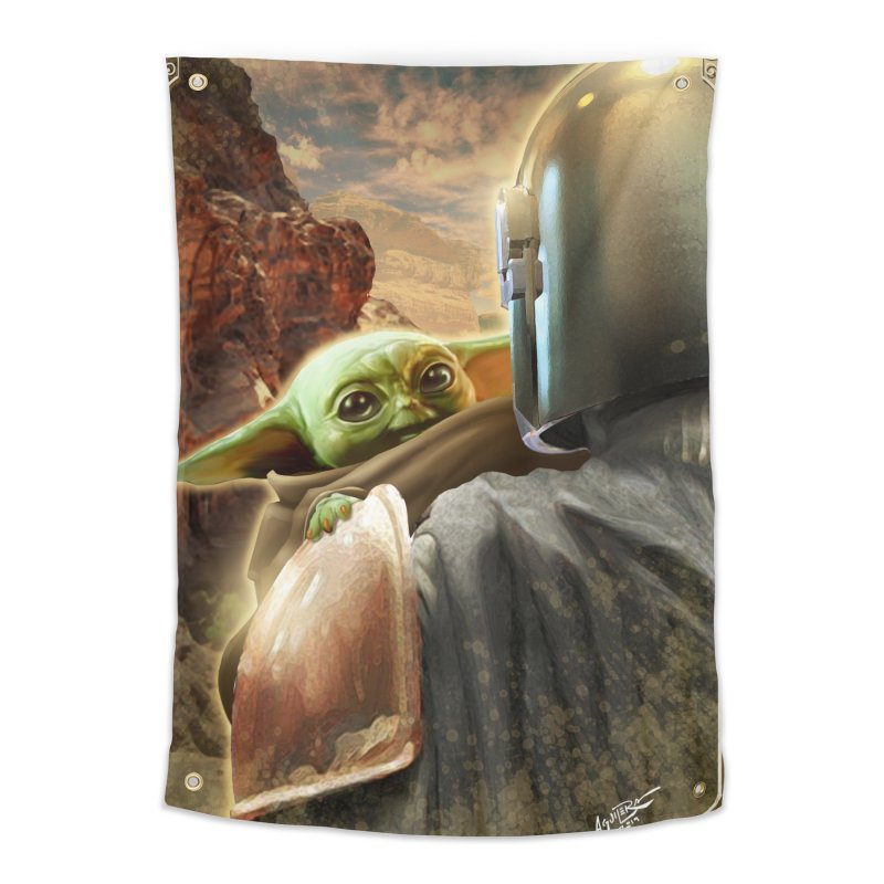 Mando, Hold My Baby Home Tapestry by Evolution Comics INC