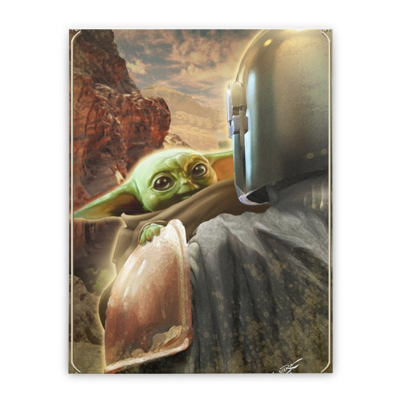 Mando, Hold My Baby Home Stretched Canvas by Evolution Comics INC