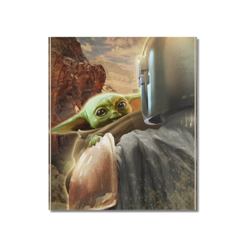 Mando, Hold My Baby Home Mounted Acrylic Print by Evolution Comics INC