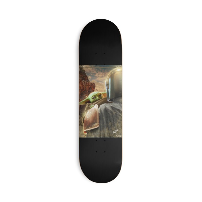 Mando, Hold My Baby Accessories Deck Only Skateboard by Evolution Comics INC