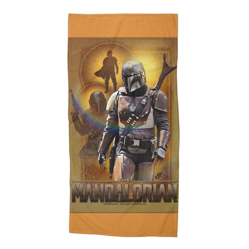 Star Wars - Mandalorian Accessories Beach Towel by Evolution Comics INC