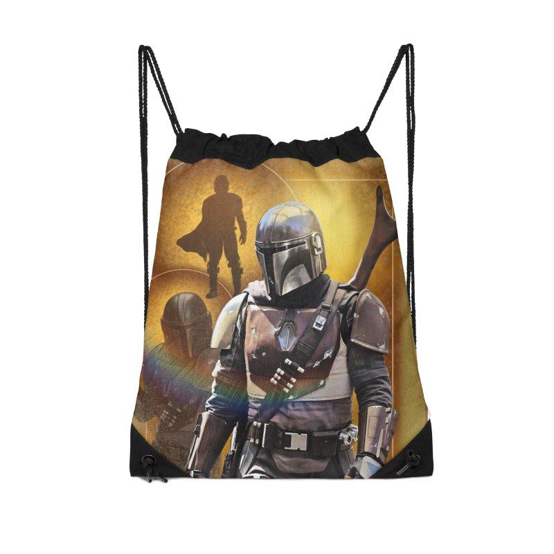 Star Wars - Mandalorian Accessories Drawstring Bag Bag by Evolution Comics INC