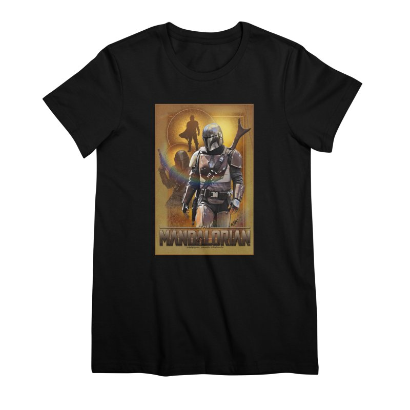 Star Wars - Mandalorian Women's Premium T-Shirt by Evolution Comics INC