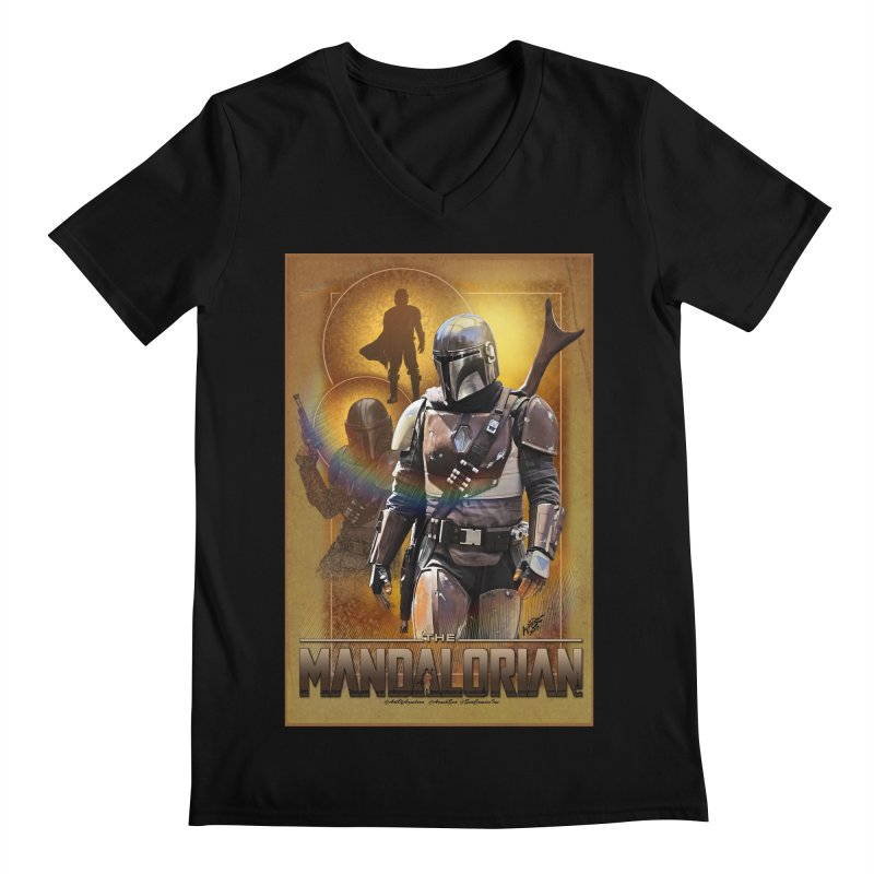 Star Wars - Mandalorian Men's Regular V-Neck by Evolution Comics INC