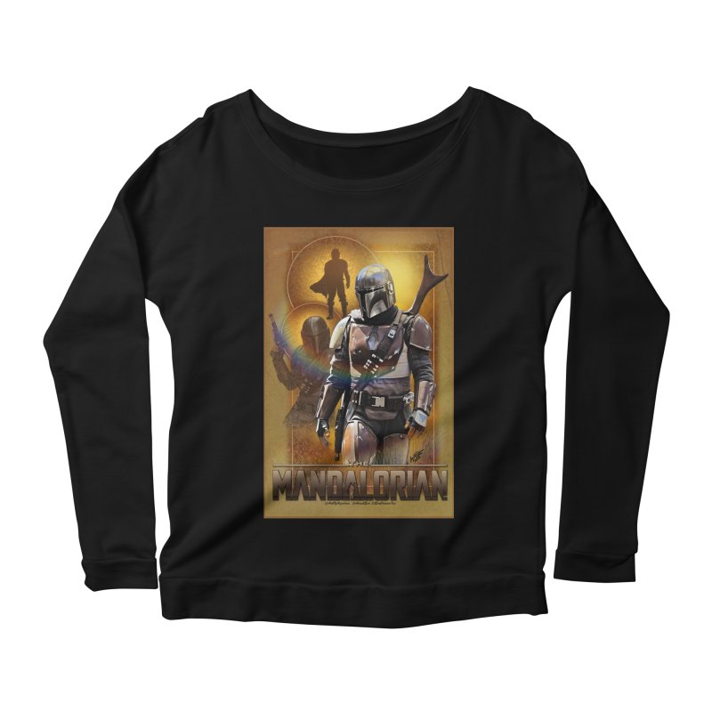 Star Wars - Mandalorian Women's Scoop Neck Longsleeve T-Shirt by Evolution Comics INC