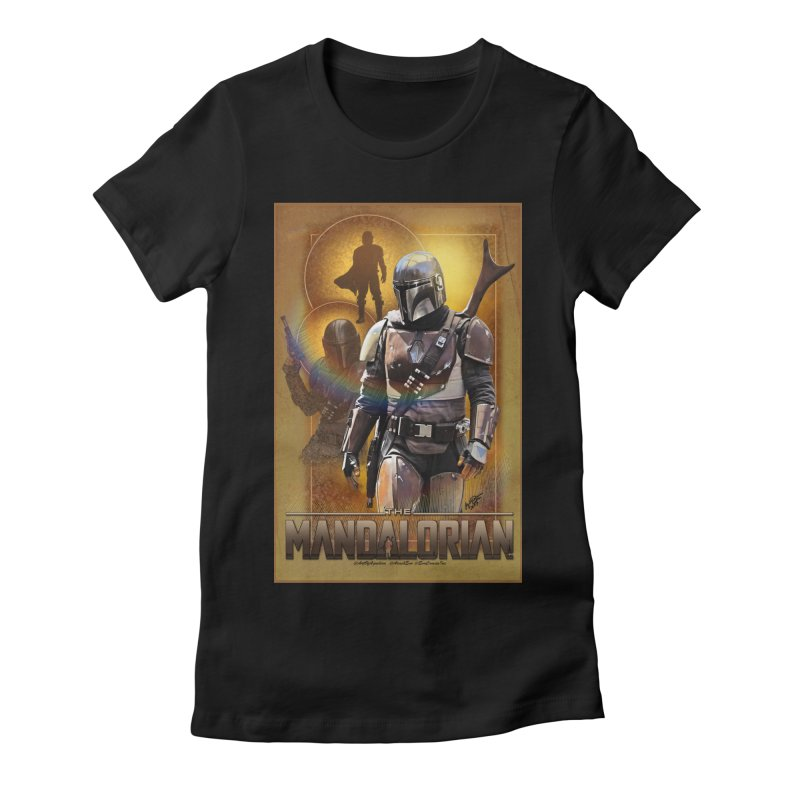 Star Wars - Mandalorian Women's Fitted T-Shirt by Evolution Comics INC