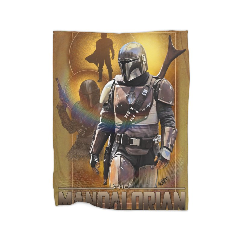 Star Wars - Mandalorian Home Fleece Blanket Blanket by Evolution Comics INC