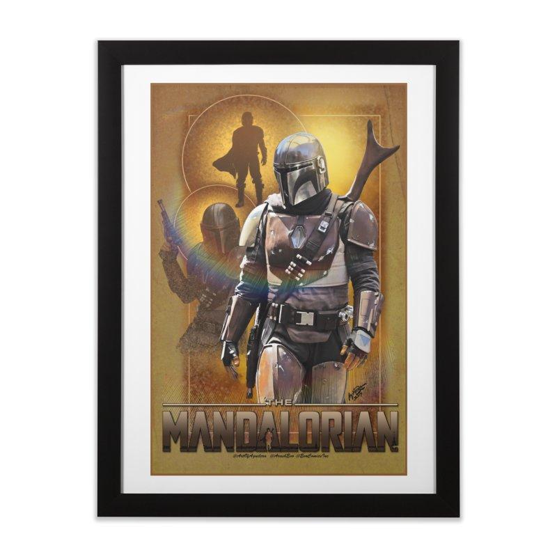 Star Wars - Mandalorian Home Framed Fine Art Print by Evolution Comics INC