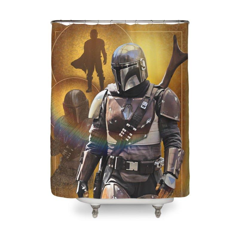 Star Wars - Mandalorian Home Shower Curtain by Evolution Comics INC