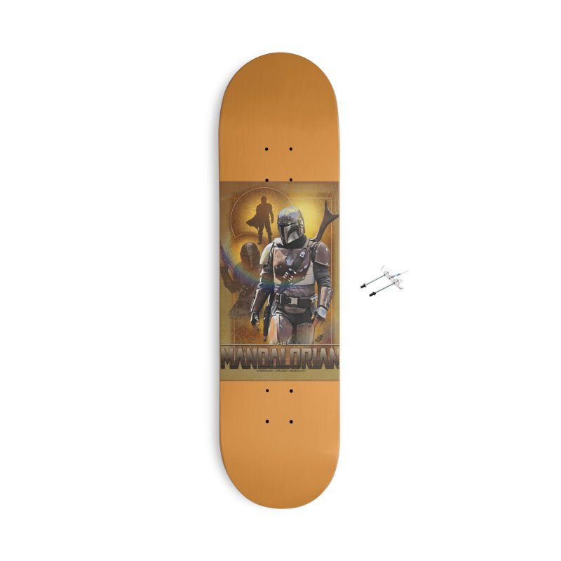Star Wars - Mandalorian Accessories With Hanging Hardware Skateboard by Evolution Comics INC