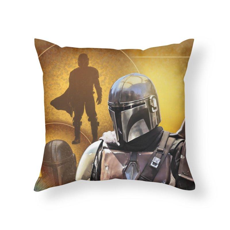 Star Wars - Mandalorian Home Throw Pillow by Evolution Comics INC