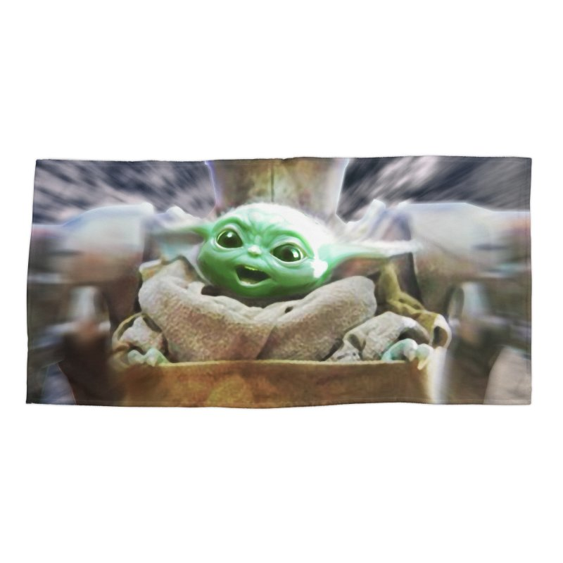 Happy Baby Rider Accessories Beach Towel by Evolution Comics INC