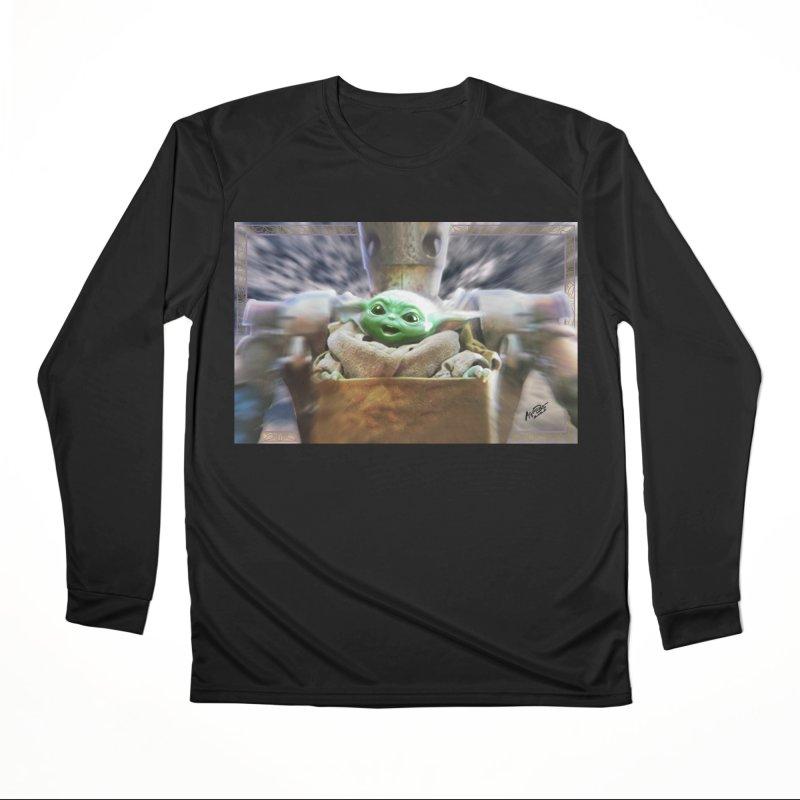 Happy Baby Rider Men's Performance Longsleeve T-Shirt by Evolution Comics INC