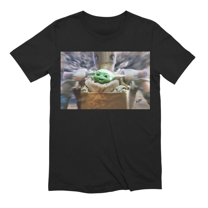 Happy Baby Rider Men's Extra Soft T-Shirt by Evolution Comics INC