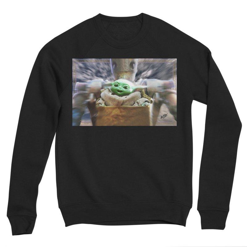 Happy Baby Rider Men's Sponge Fleece Sweatshirt by Evolution Comics INC