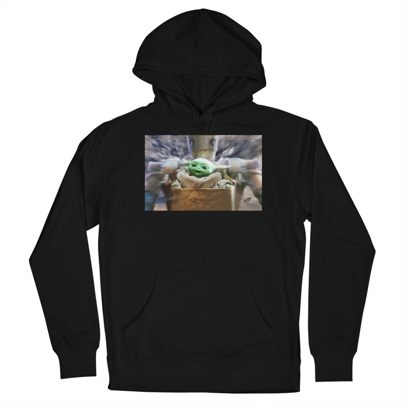 Happy Baby Rider Men's French Terry Pullover Hoody by Evolution Comics INC