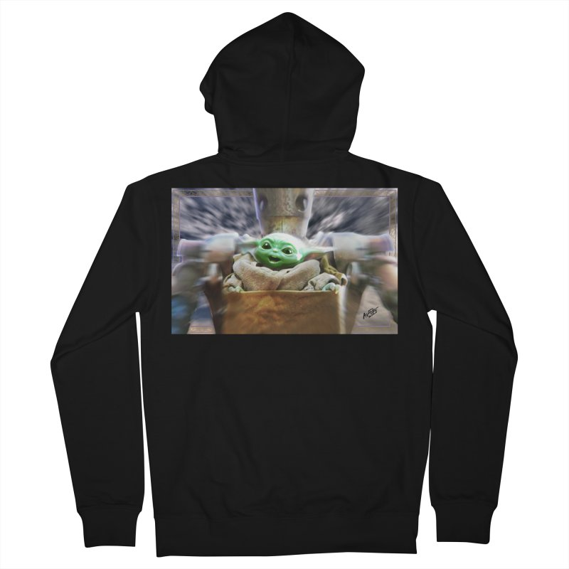 Happy Baby Rider Men's French Terry Zip-Up Hoody by Evolution Comics INC