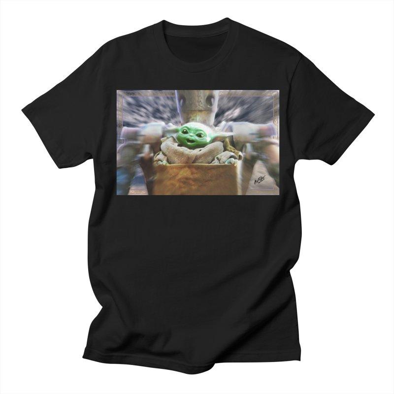 Happy Baby Rider Men's Regular T-Shirt by Evolution Comics INC