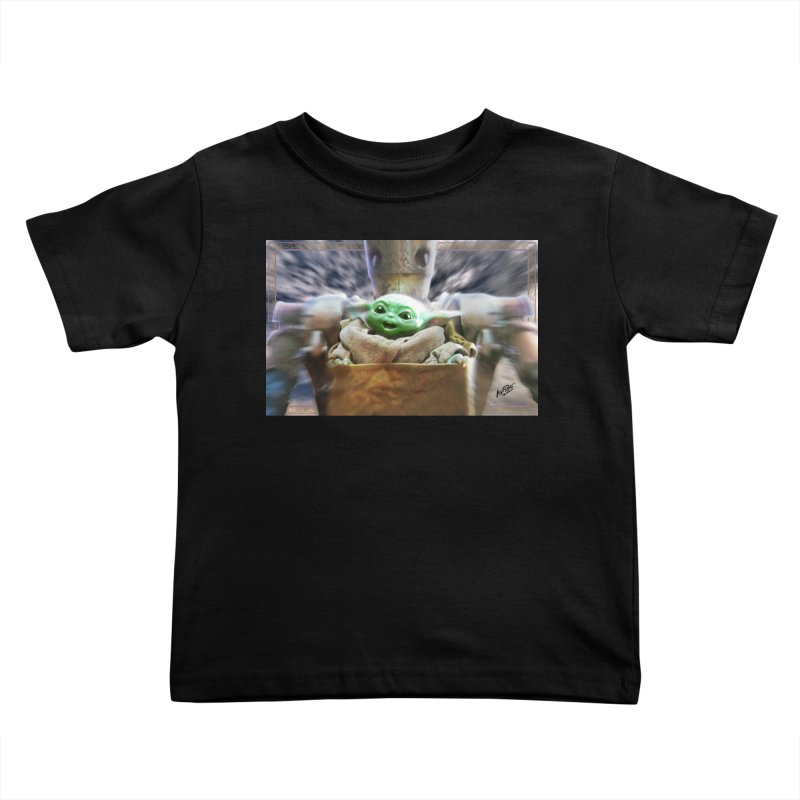 Happy Baby Rider Kids Toddler T-Shirt by Evolution Comics INC