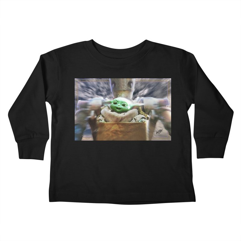Happy Baby Rider Kids Toddler Longsleeve T-Shirt by Evolution Comics INC