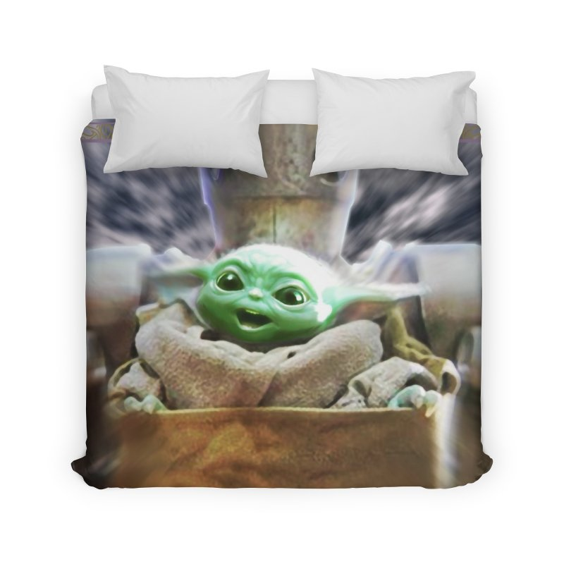 Happy Baby Rider Home Duvet by Evolution Comics INC