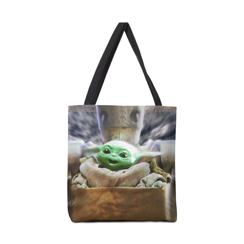 Happy Baby Rider Accessories Tote Bag Bag by Evolution Comics INC