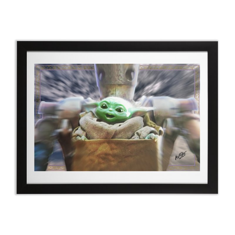 Happy Baby Rider Home Framed Fine Art Print by Evolution Comics INC