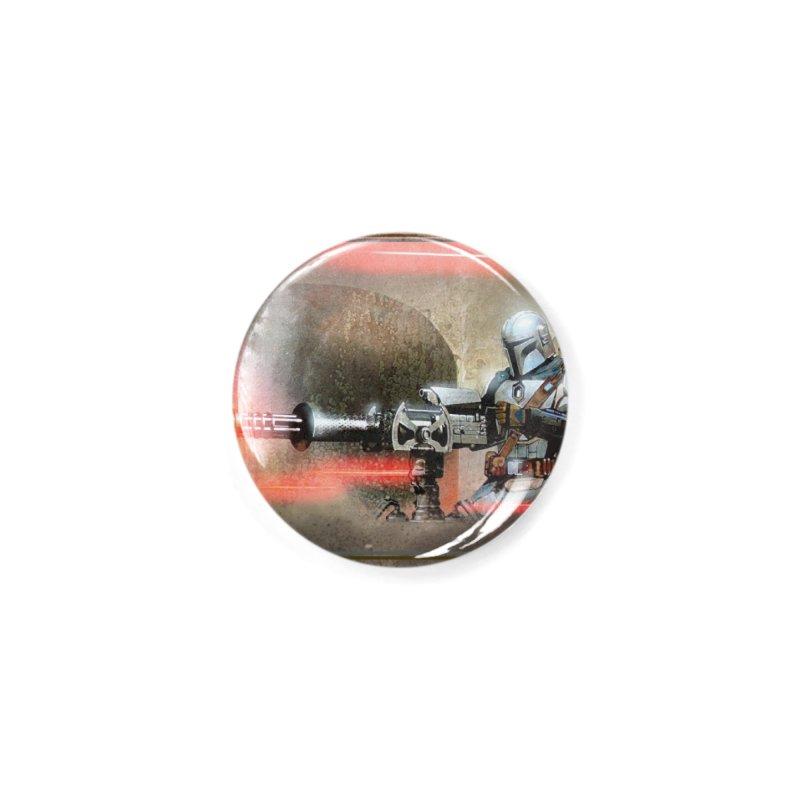 Mando on a Gunner Accessories Button by Evolution Comics INC