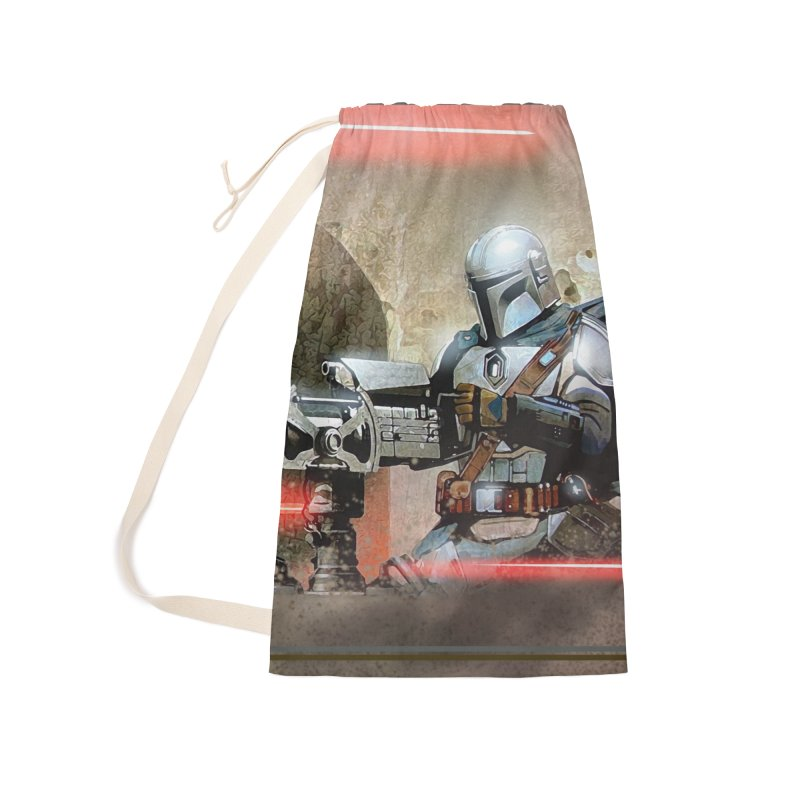 Mando on a Gunner Accessories Laundry Bag Bag by Evolution Comics INC