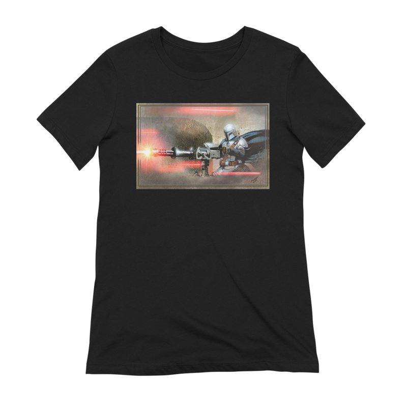 Mando on a Gunner Women's Extra Soft T-Shirt by Evolution Comics INC