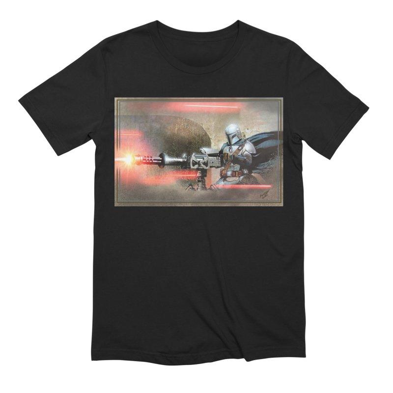 Mando on a Gunner Men's Extra Soft T-Shirt by Evolution Comics INC