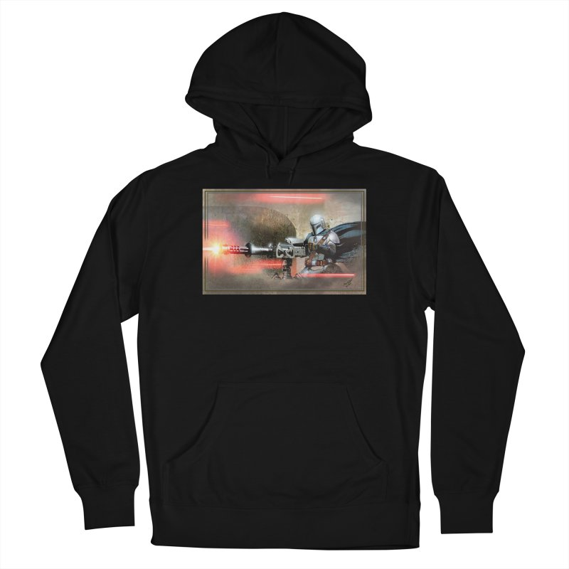 Mando on a Gunner Men's French Terry Pullover Hoody by Evolution Comics INC