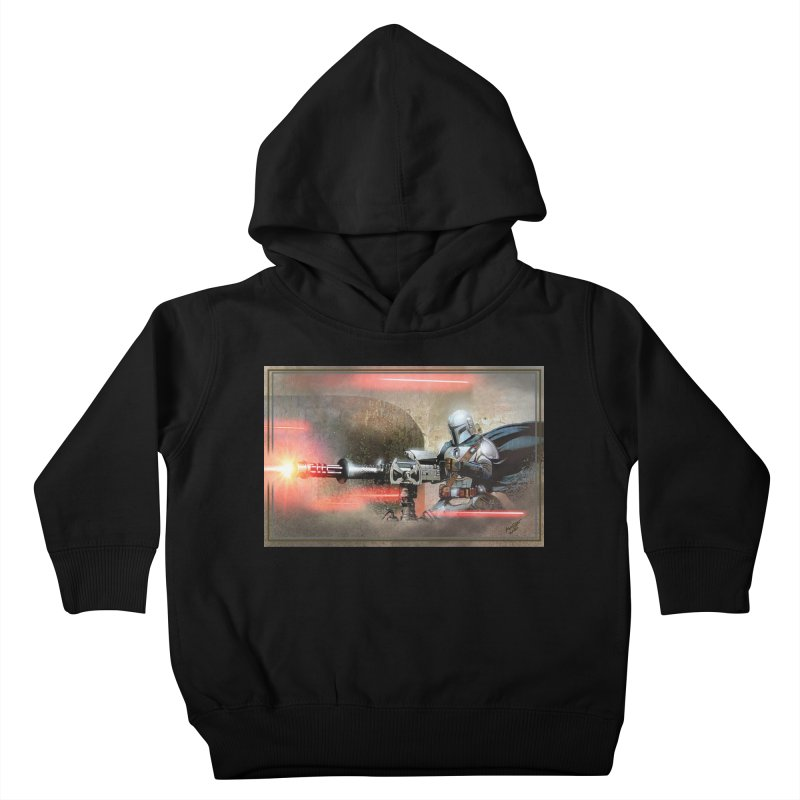 Mando on a Gunner Kids Toddler Pullover Hoody by Evolution Comics INC