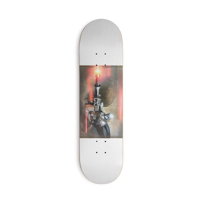 Mando on a Gunner Accessories Deck Only Skateboard by Evolution Comics INC