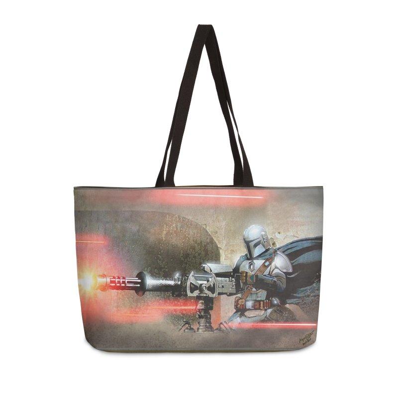 Mando on a Gunner Accessories Weekender Bag Bag by Evolution Comics INC