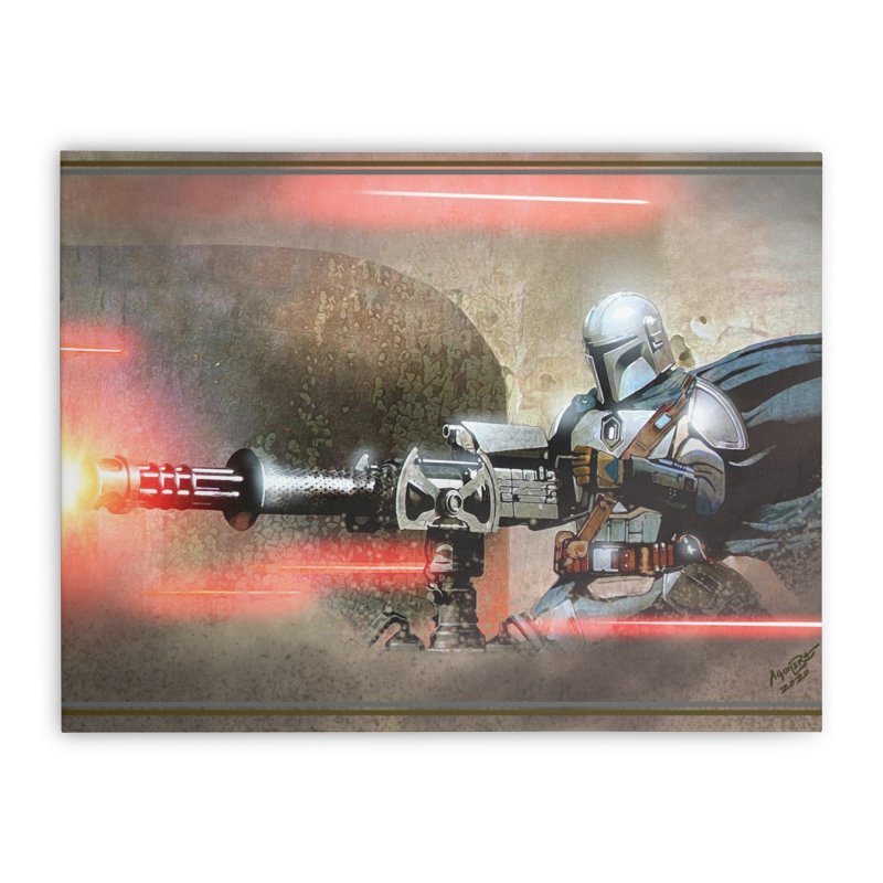 Mando on a Gunner Home Stretched Canvas by Evolution Comics INC