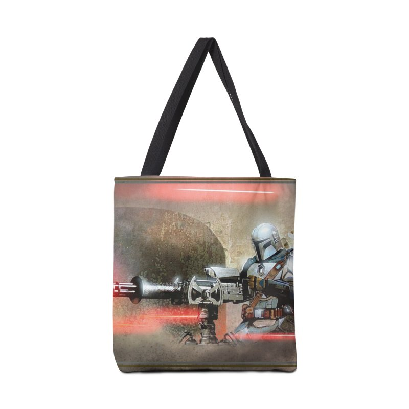 Mando on a Gunner Accessories Tote Bag Bag by Evolution Comics INC