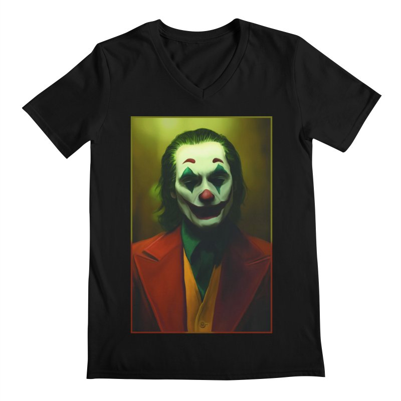 Joker Phoenix Men's Regular V-Neck by Evolution Comics INC