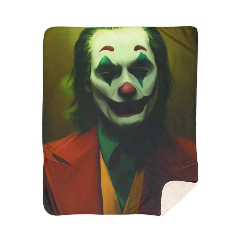 Joker Phoenix Home Sherpa Blanket Blanket by Evolution Comics INC