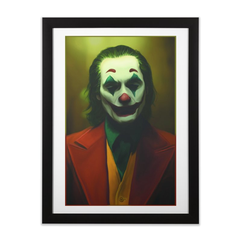 Joker Phoenix Home Framed Fine Art Print by Evolution Comics INC
