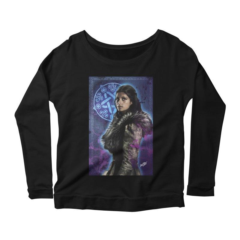 Yennifer - Witcher Women's Scoop Neck Longsleeve T-Shirt by Evolution Comics INC