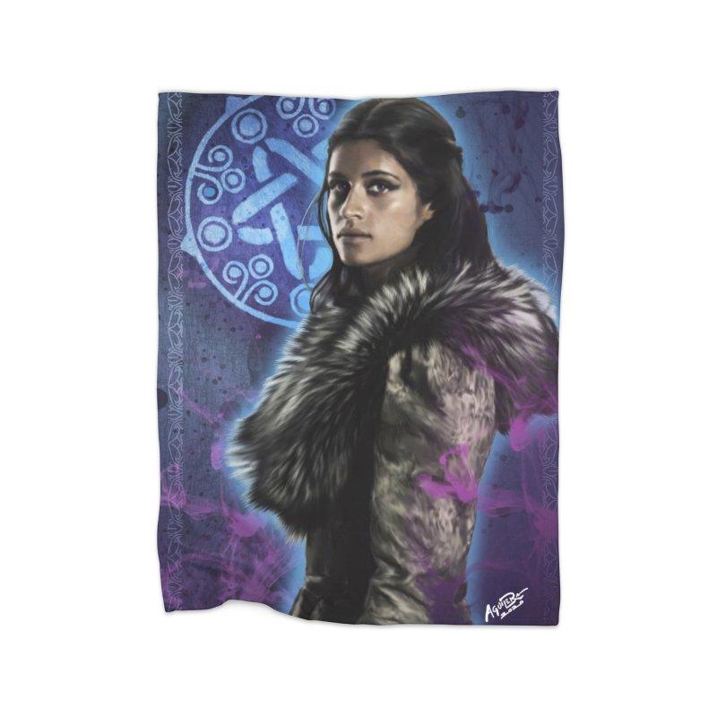 Yennifer - Witcher Home Fleece Blanket Blanket by Evolution Comics INC