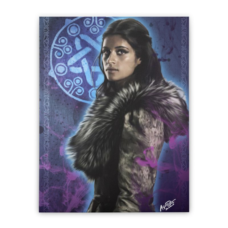 Yennifer - Witcher Home Stretched Canvas by Evolution Comics INC