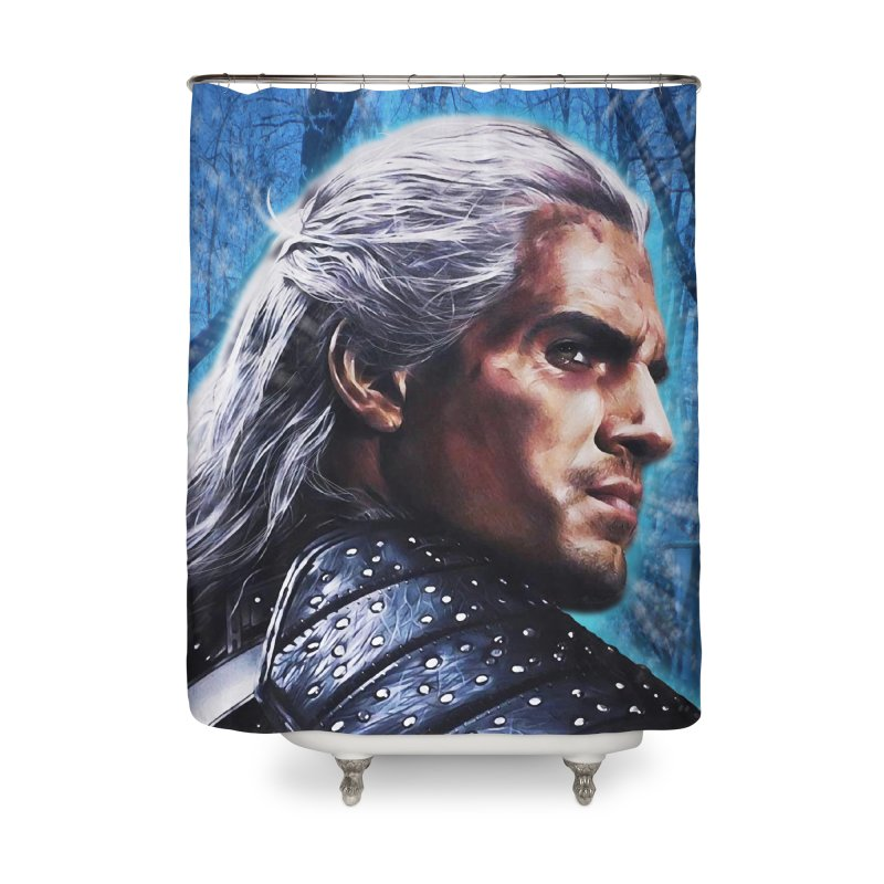 Witcher Home Shower Curtain by Evolution Comics INC