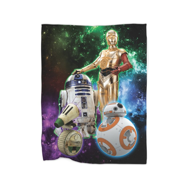 The Droids You Are Looking For Home Fleece Blanket Blanket by Evolution Comics INC