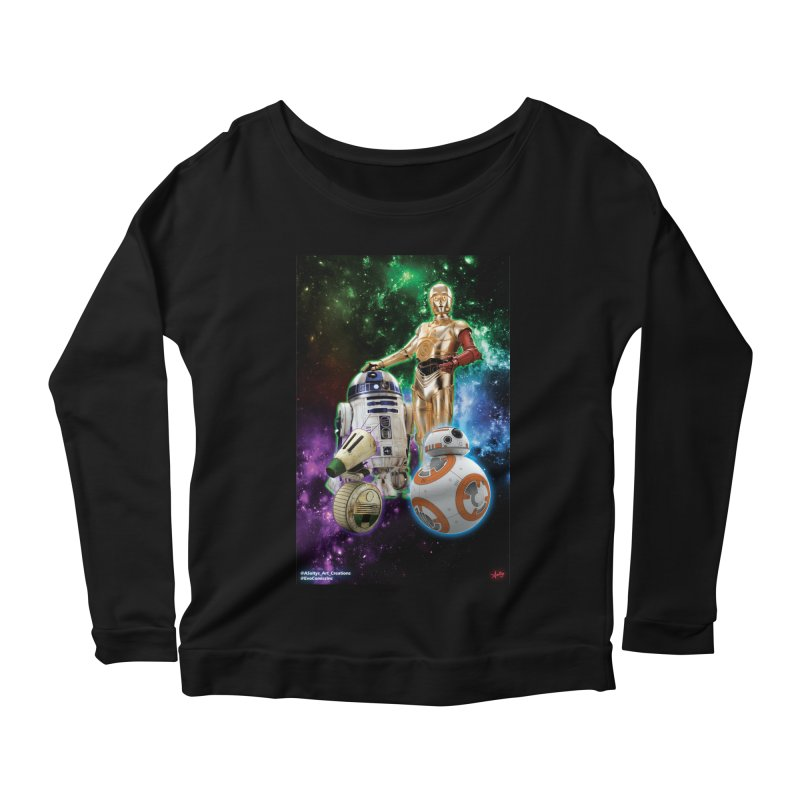 The Droids You Are Looking For Women's Scoop Neck Longsleeve T-Shirt by Evolution Comics INC
