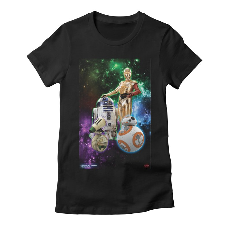 The Droids You Are Looking For Women's Fitted T-Shirt by Evolution Comics INC