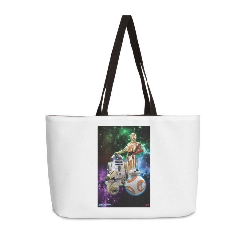 The Droids You Are Looking For Accessories Weekender Bag Bag by Evolution Comics INC